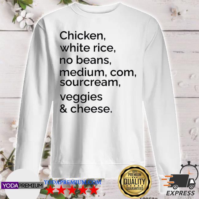 Chipotle custom order sweater