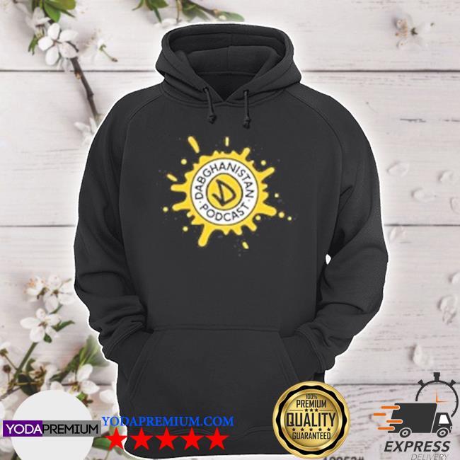 Dabghanistan podcaSt splatter logo hoodie