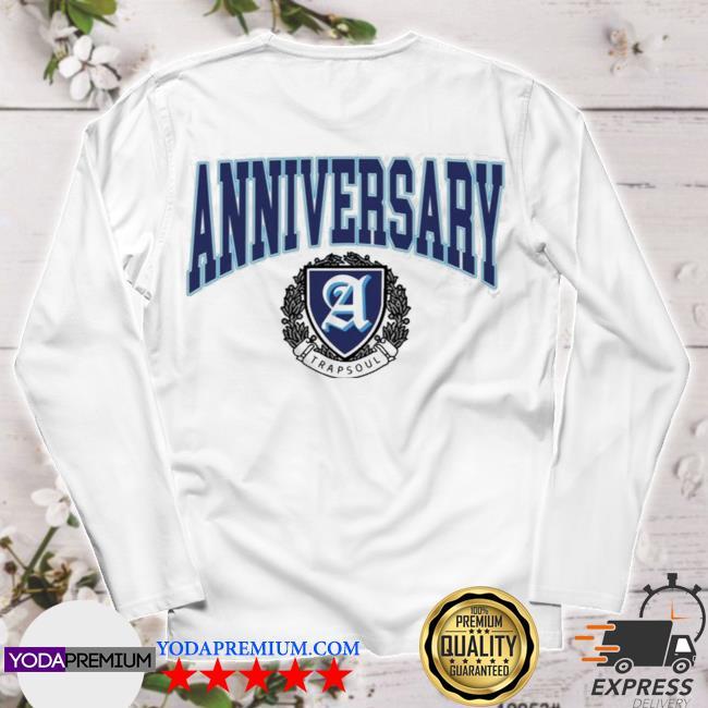Deluxe anniversary white varsity longsleeve