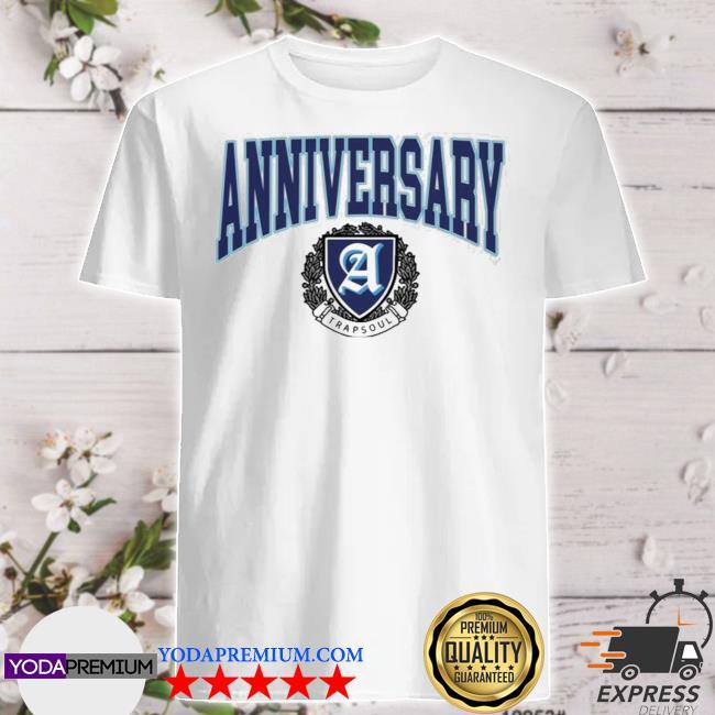 Deluxe anniversary white varsity shirt