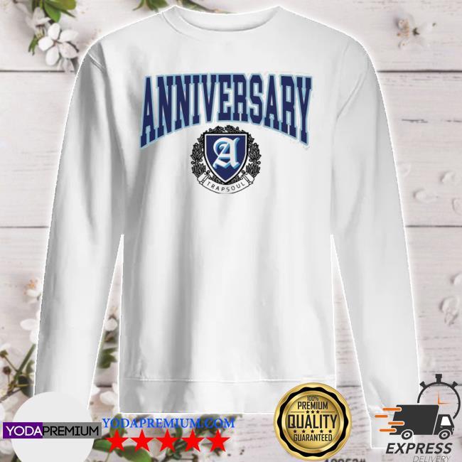 Deluxe anniversary white varsity sweater