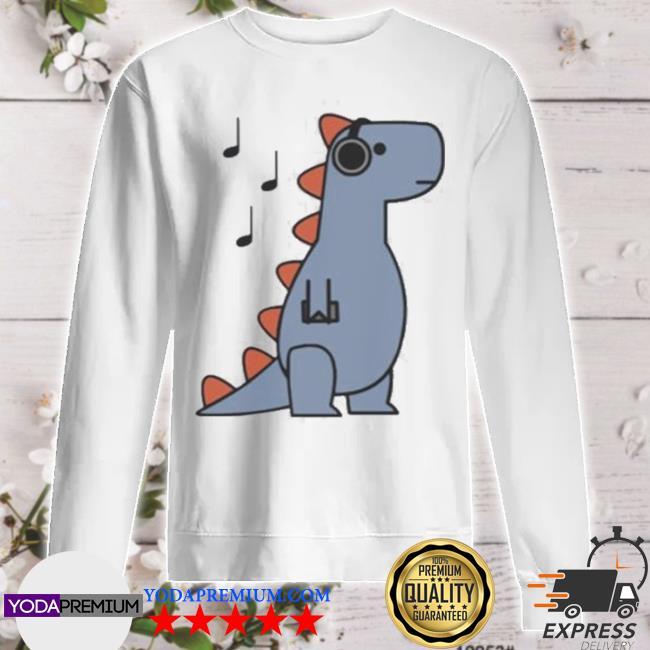 Dinosaur vibing t rex sweater