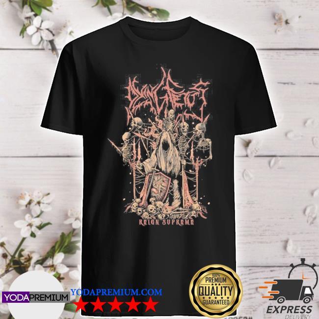 Dying fetus reign supreme throne shirt