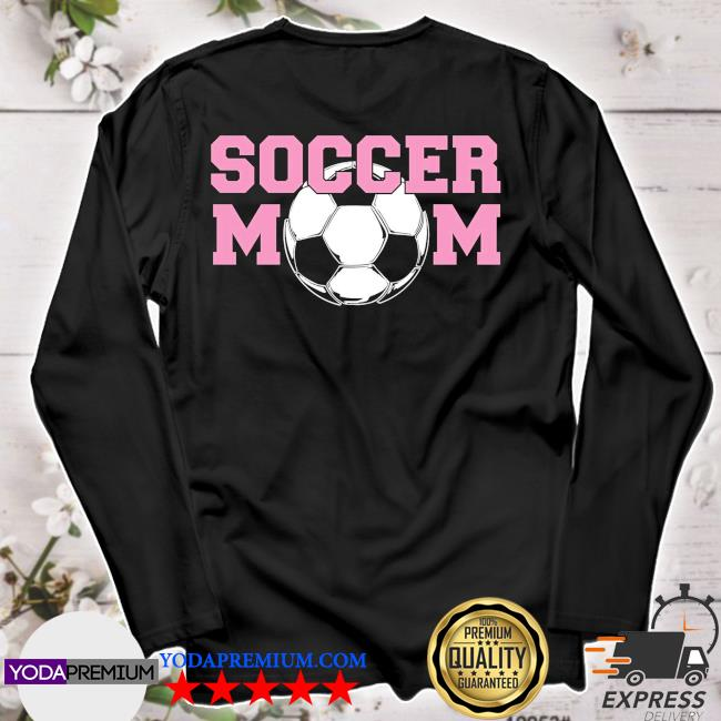 Soccer mom pink relaxed fit longsleeve