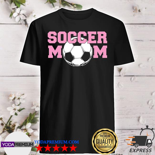 Soccer mom pink relaxed fit shirt