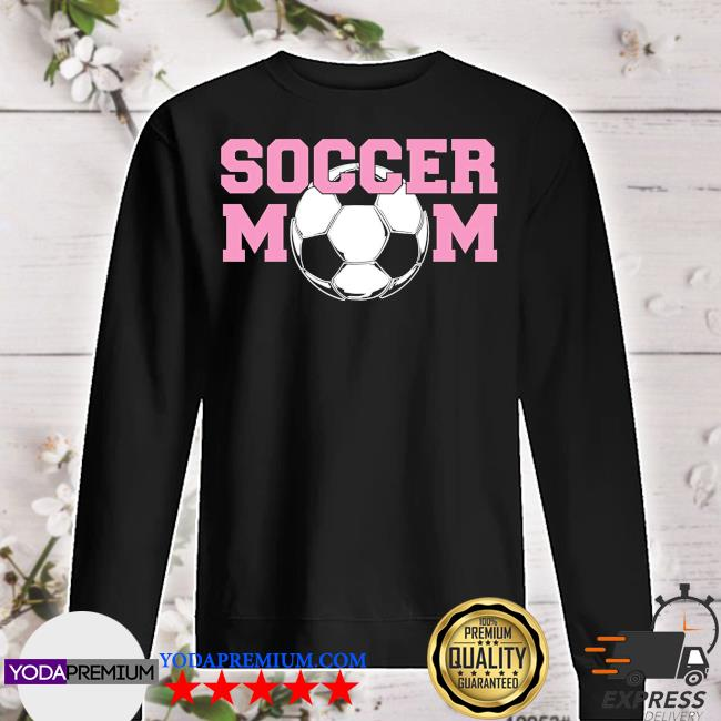 Soccer mom pink relaxed fit sweater