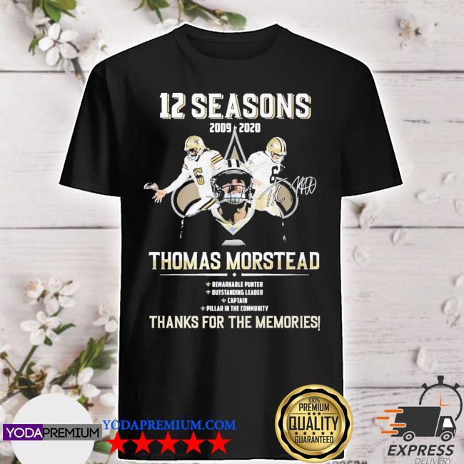 12 seasons 2009 2020 Thomas Morstead thanks for the memories shirt