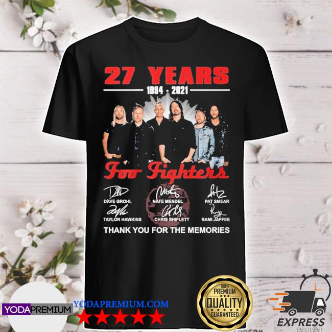 27 years 1994 2021 Top Fighters Signatures thank you for the memories shirt