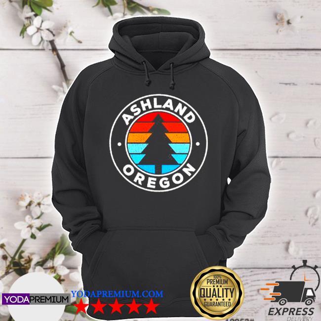 Ashland oregon or vintage graphic retro hoodie