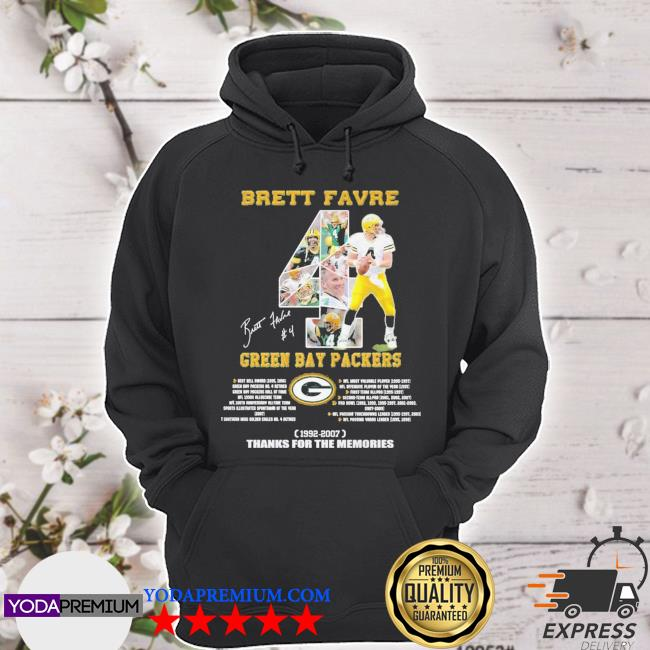Brett Favre 1992 2007 Green Bay Packers thanks for the memories hoodie