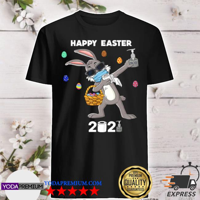 Dabbing rabbit happy easter 2021 shirt