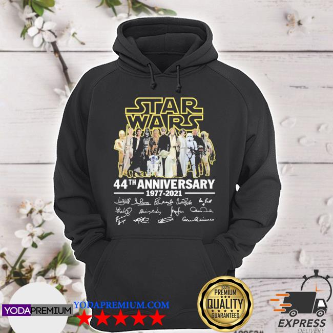 Star Wars 44th anniversary signatures thank you for the memories hoodie