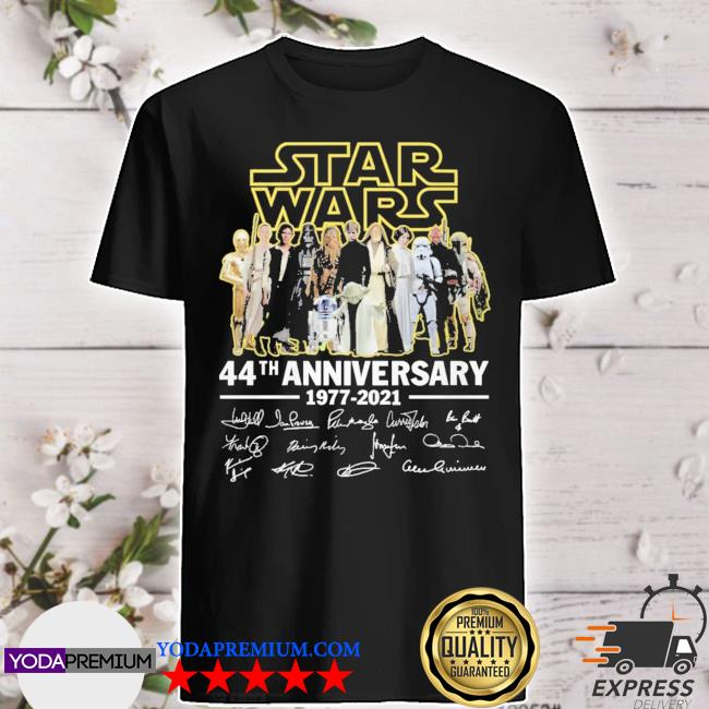 Star Wars 44th anniversary signatures thank you for the memories shirt