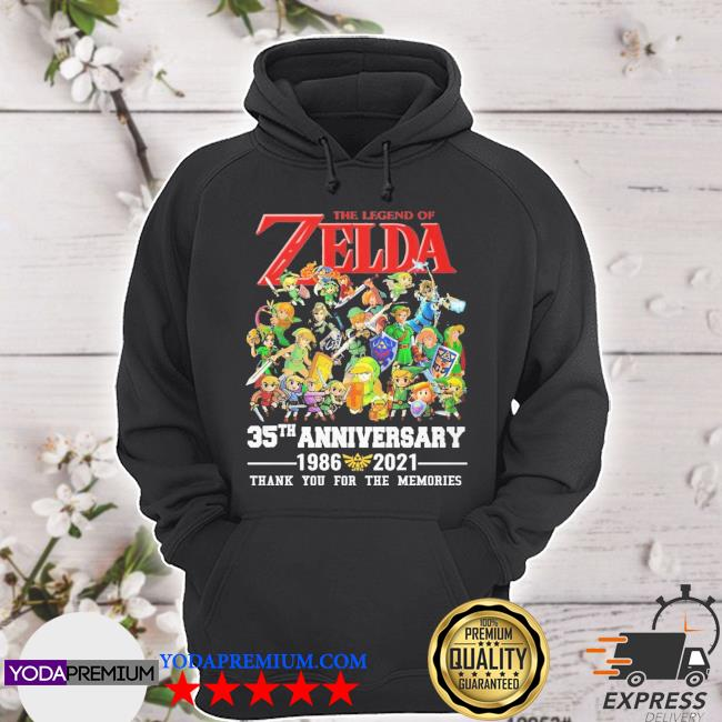 The legend of the Zelda 35tha anniversary 1986 2021 thank you for the memories hoodie