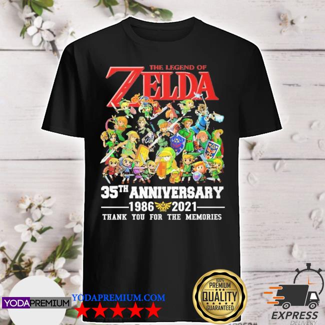 The legend of the Zelda 35tha anniversary 1986 2021 thank you for the memories shirt