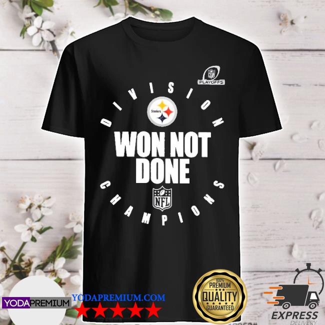Official pittsburgh steelers champions 2020 won not done shirt