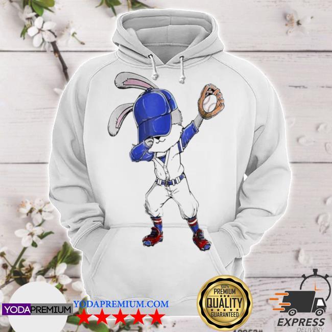 Bunny dabbing playing baseball hoodie