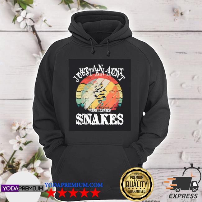 Just an aunt who loves snakes hoodie