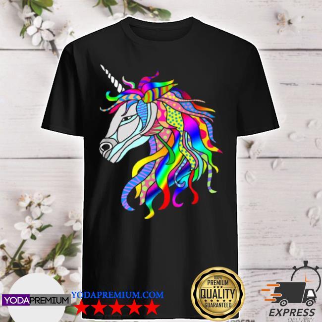 Multicolor fantastic unicorn shirt
