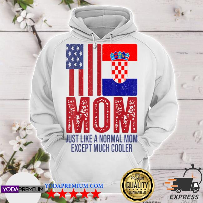 Vintage American croatian flag mom for mother's day hoodie
