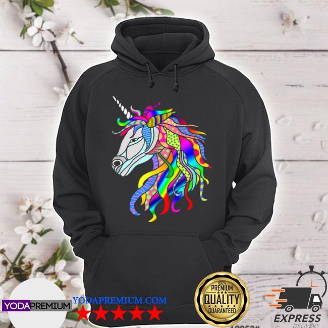 Multicolor fantastic unicorn hoodie