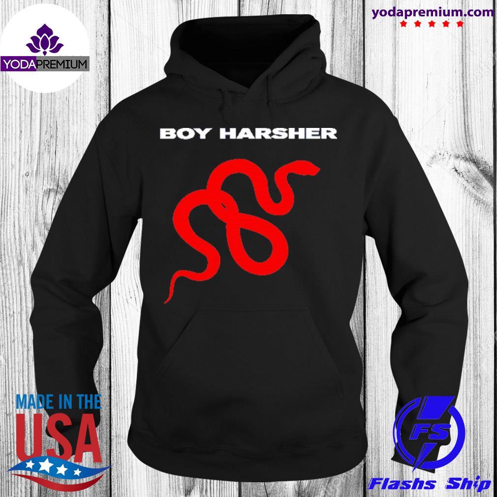 Red snake boy harsher logo s unisex hoodie