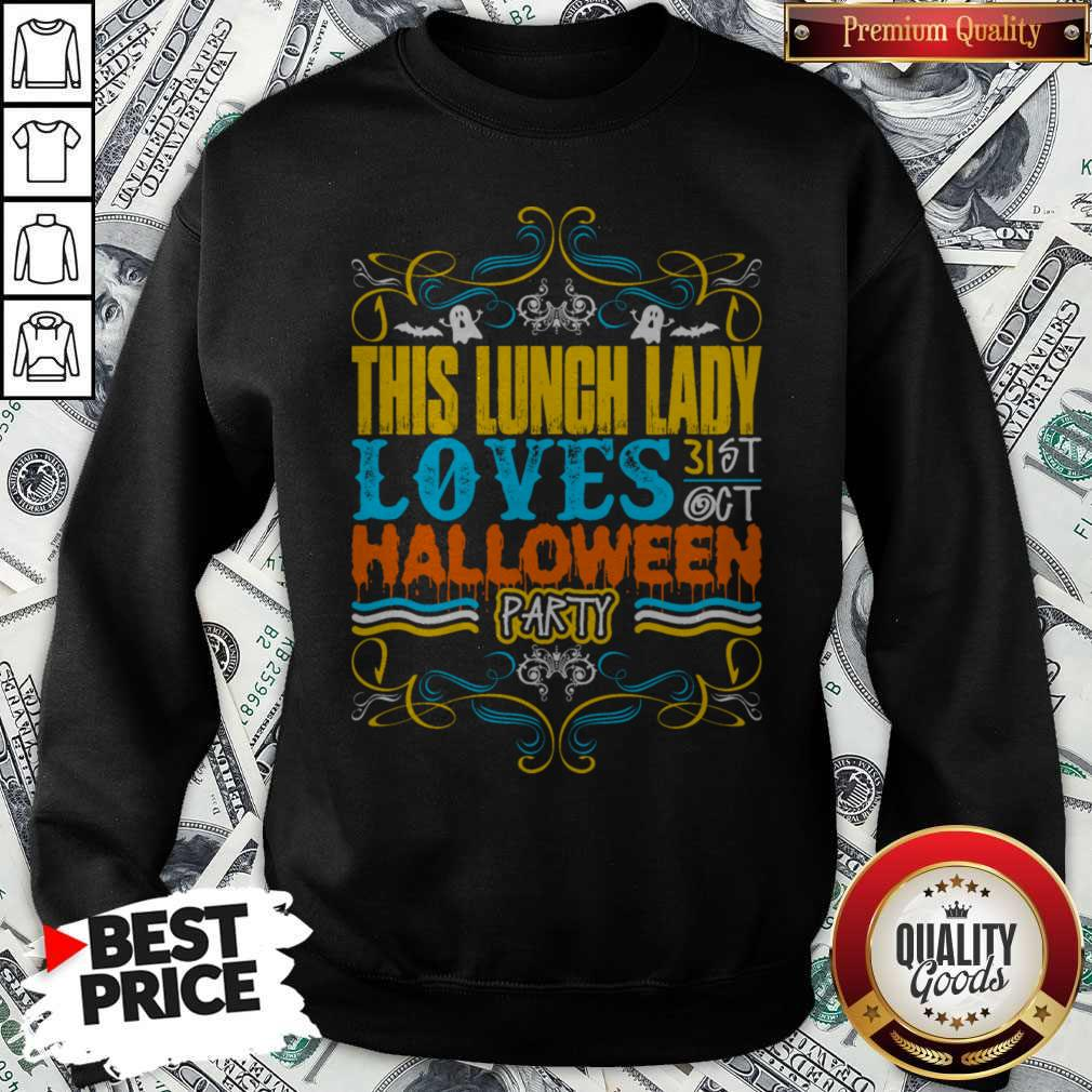 Funny This Lunch Lady Loves Halloween Party Sweatshirt