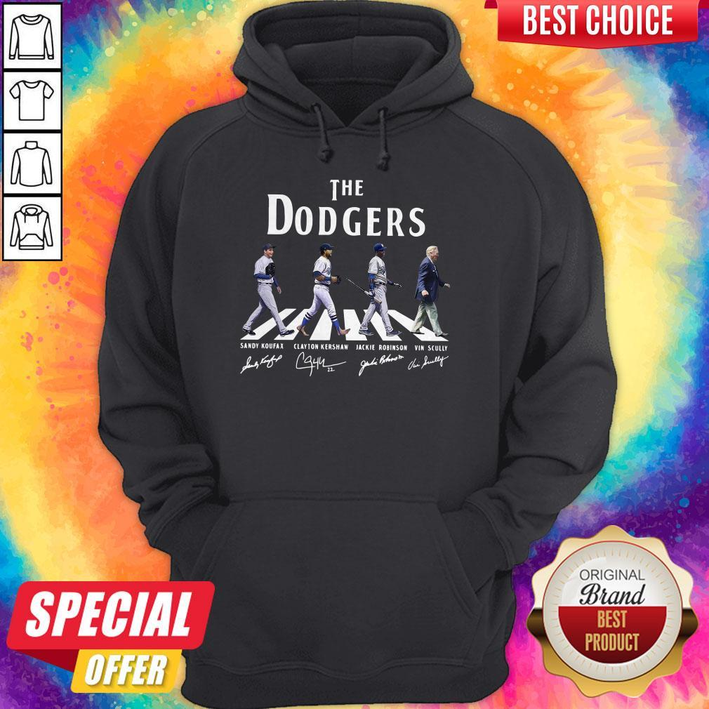 Good The Dodgers Abbey Road Signatures Hoodie
