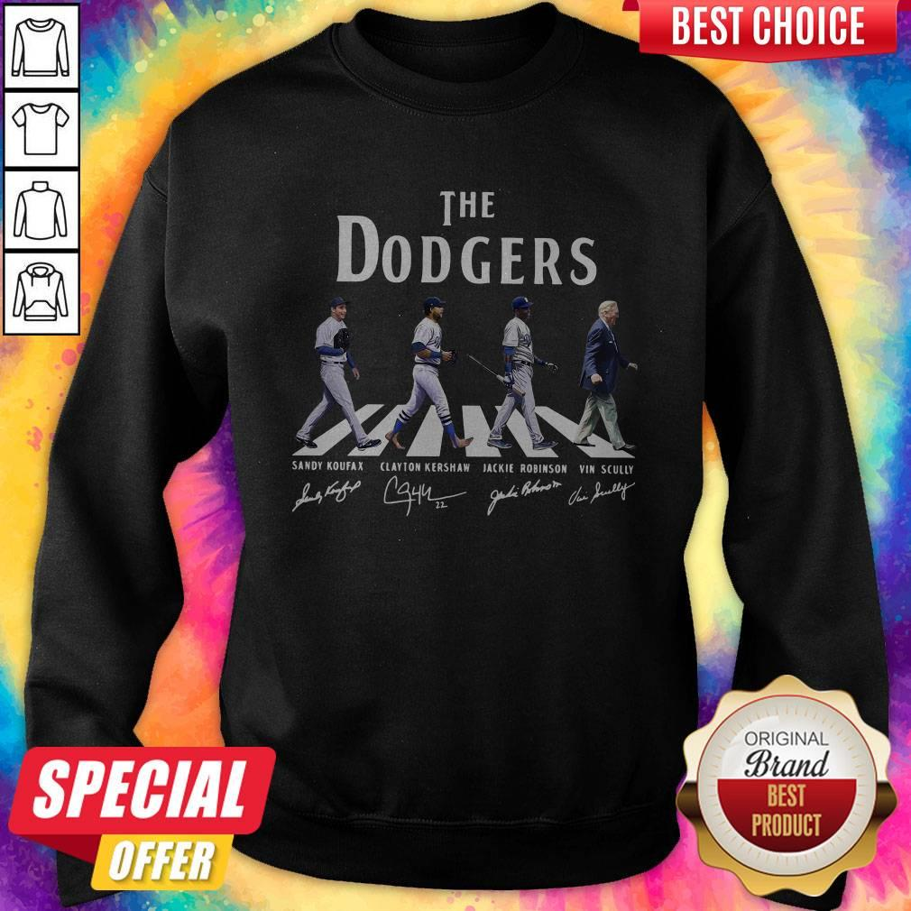 Good The Dodgers Abbey Road Signatures Sweatshirt