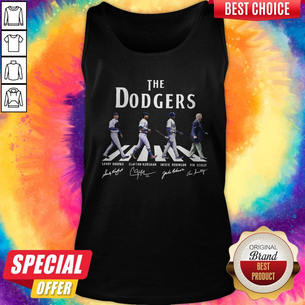Good The Dodgers Abbey Road Signatures Tank Top