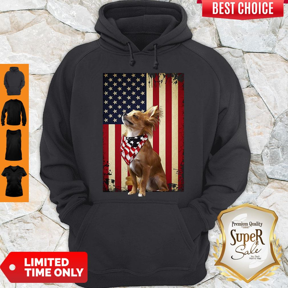 Official American Flag Chihuahua Proud Hoodie