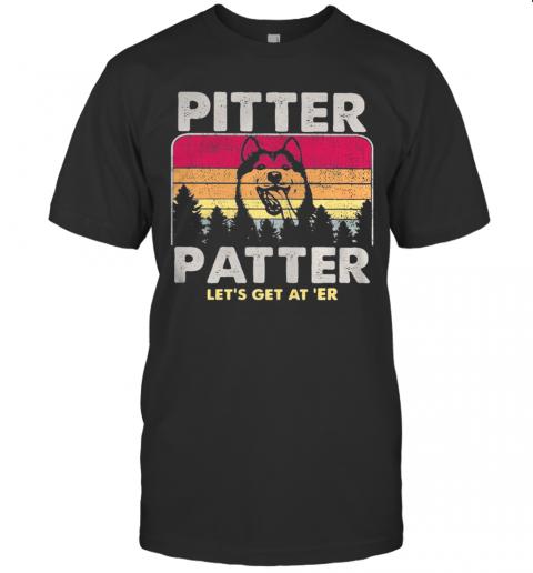 Husky Pitter Patter Let'S Get At 'Er Vintage Retro T-Shirt Classic Men's T-shirt
