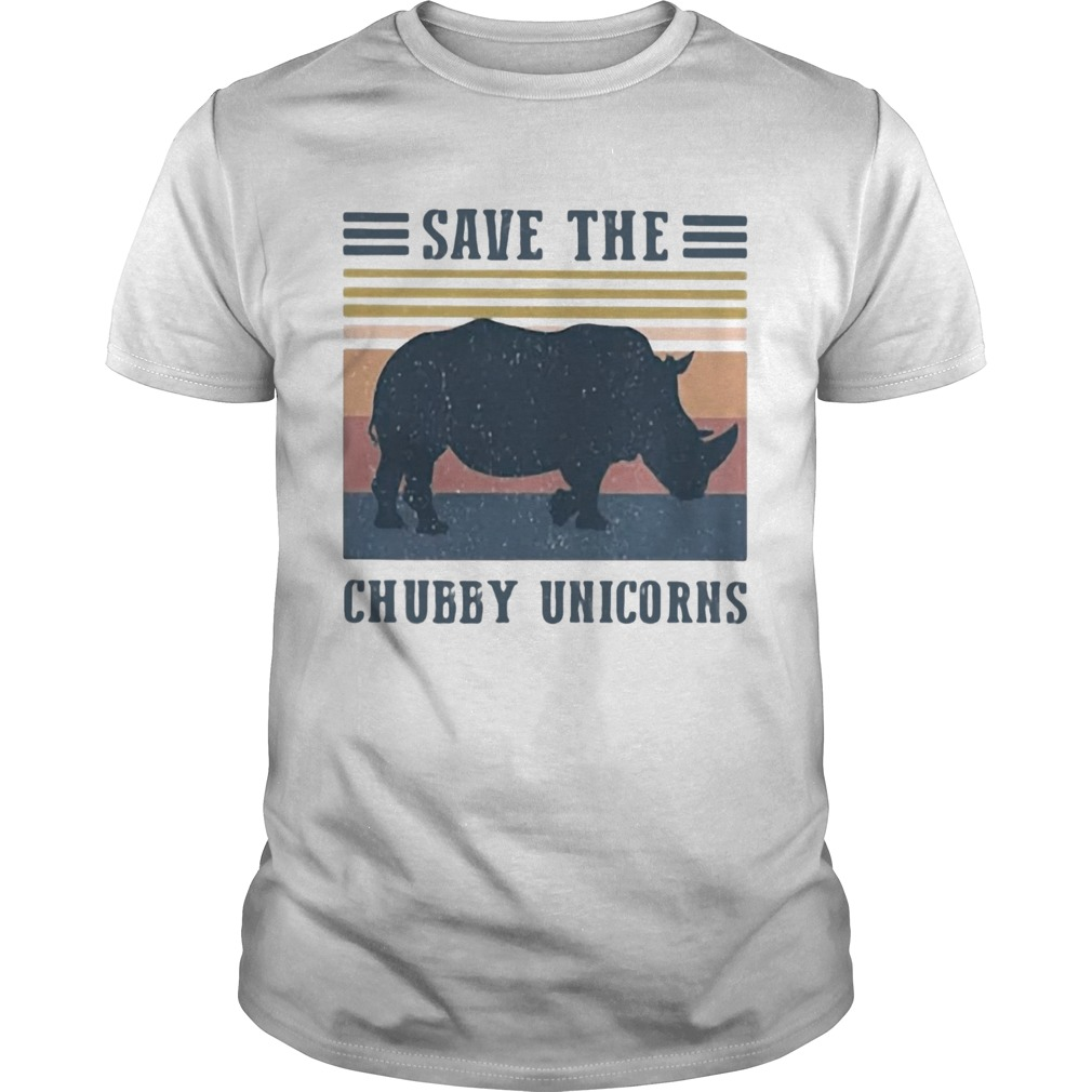 Save The Chubby Unicorns Vintage Retro  Unisex