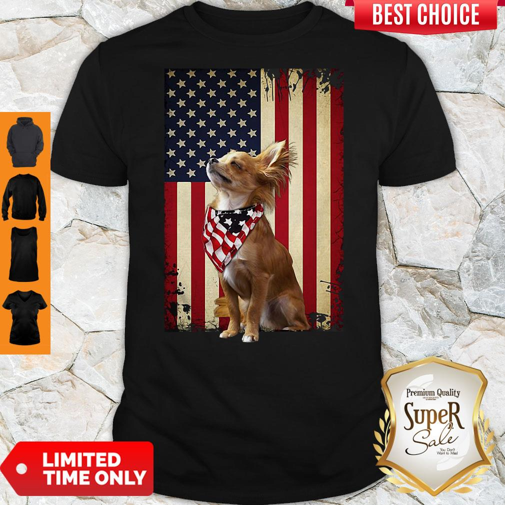 Official American Flag Chihuahua Proud Shirt