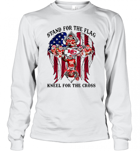 Stand For The Flag Kneel For The Cross T-Shirt Long Sleeved T-shirt