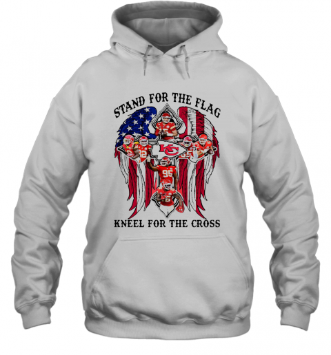 Stand For The Flag Kneel For The Cross T-Shirt Unisex Hoodie