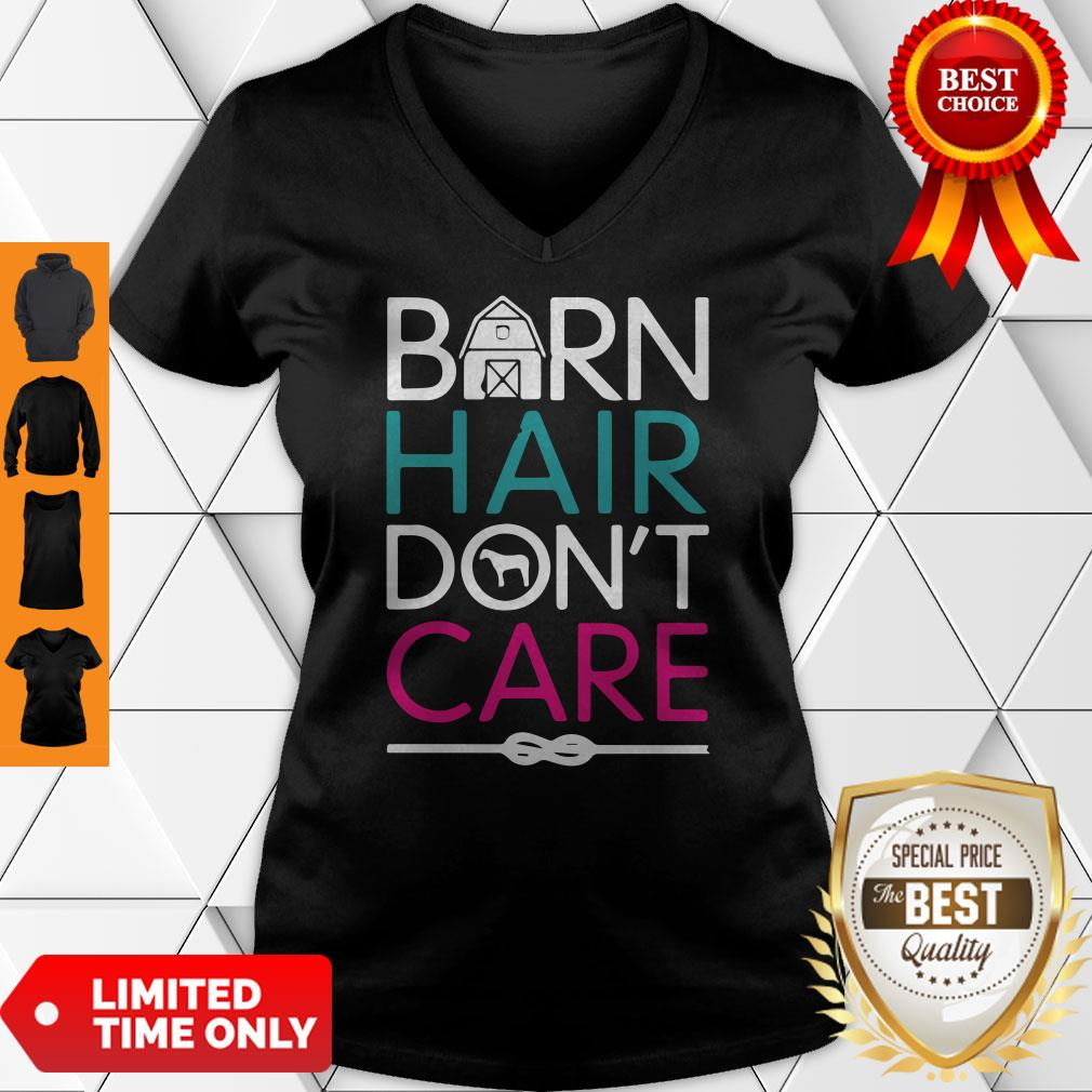Official Horse Girls Barn Hair Don't Care Women Riding Gifts Classic V-neck