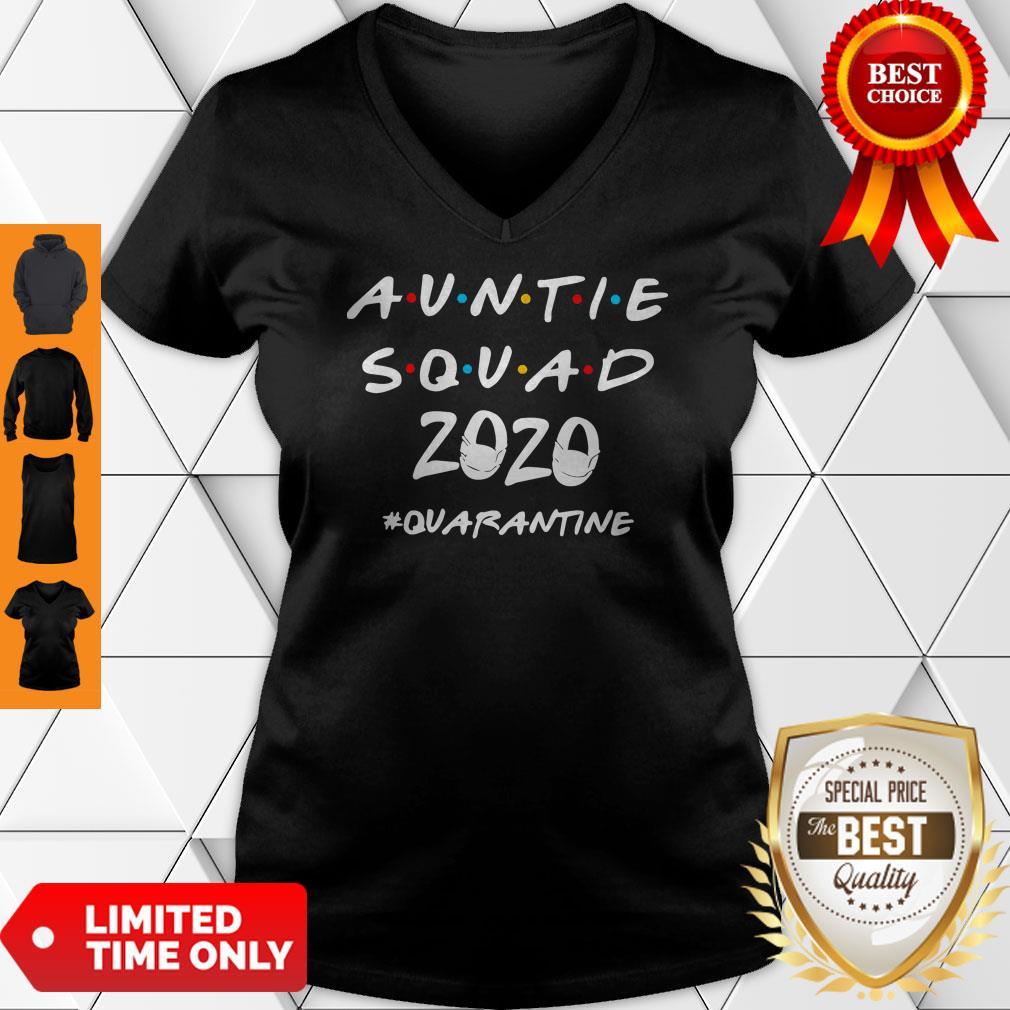 Official Auntie Squad 2020 Quarantine V-neck