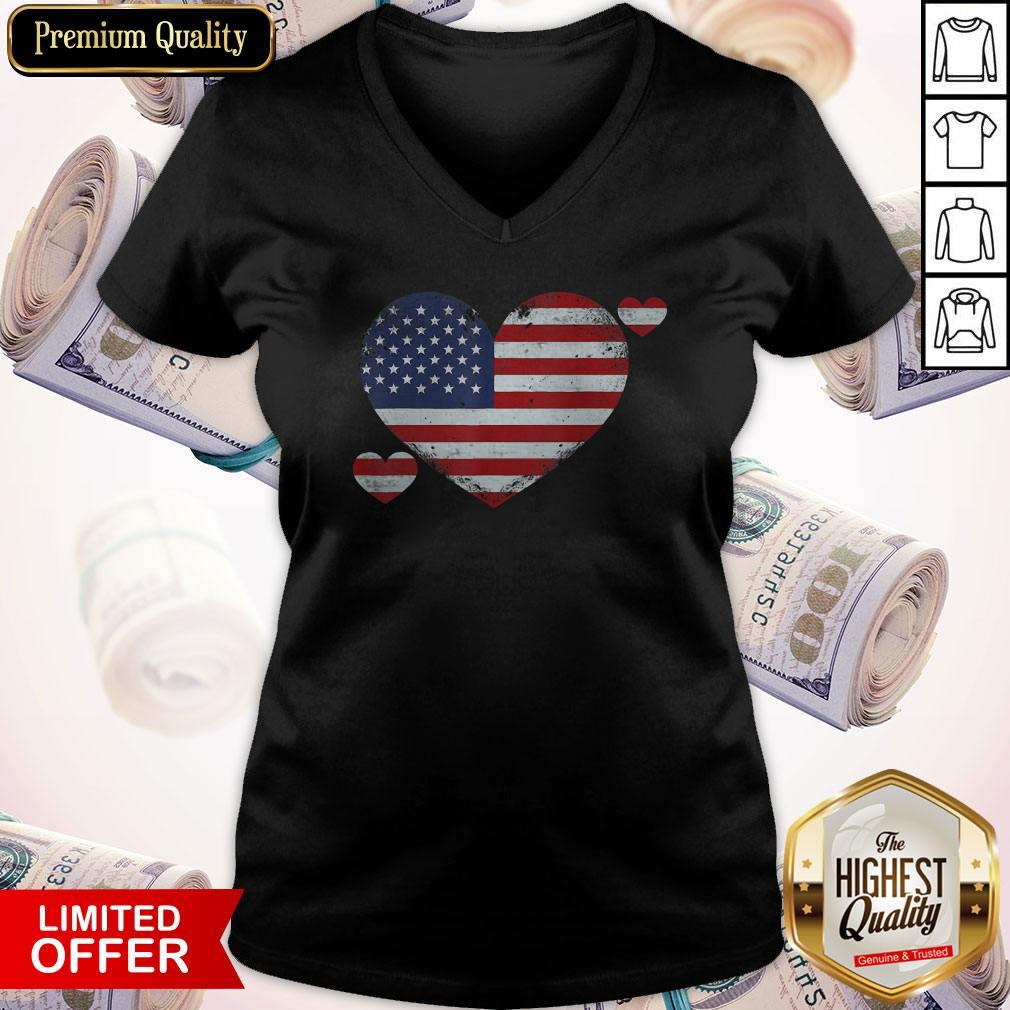 4th of July Patriotic Pride Distressed Official Perfect V-neck