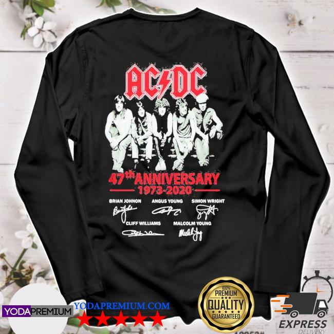ACDC band 47th anniversary 1973 2020 signatures s longsleeve