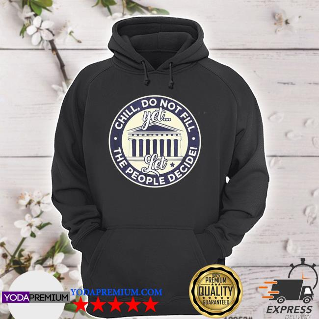 Chill, do not fill that seat political democrat s hoodie