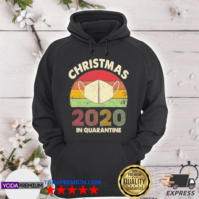 Christmas 2020 in quarantine vintage sunset s hoodie