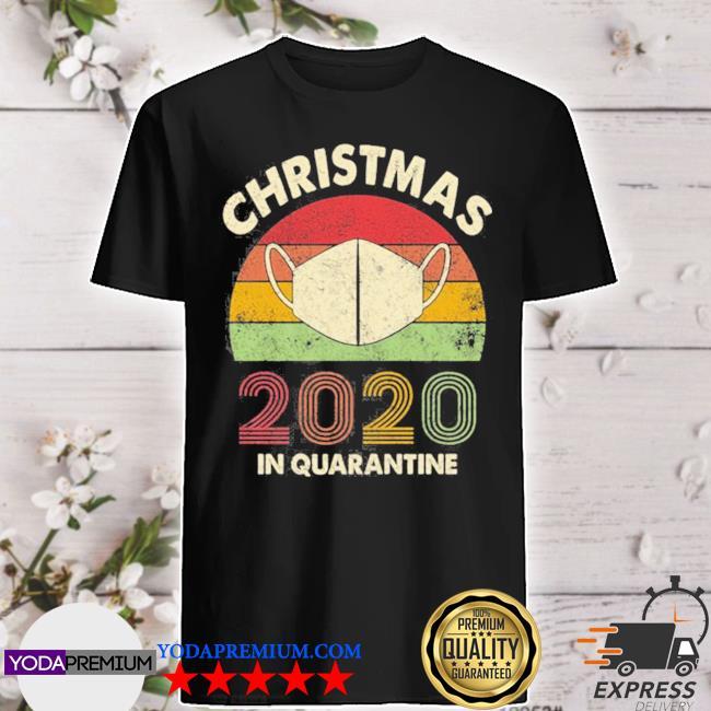 Christmas 2020 in quarantine vintage sunset shirt