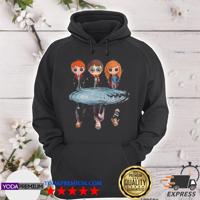 Harry potter ron weasley and hermione reflection water s hoodie