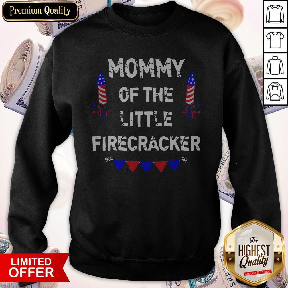 July Birthday Mom Of Little Firecracker Official Perfect SweatShirt