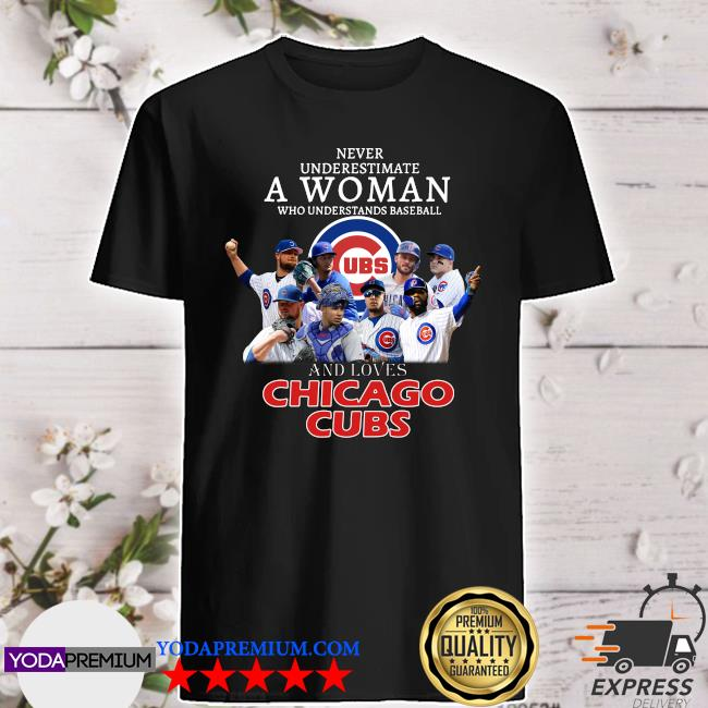 Never underestimate a woman who understands baseball and loves Chicago Cubs shirt By Moteefes Store