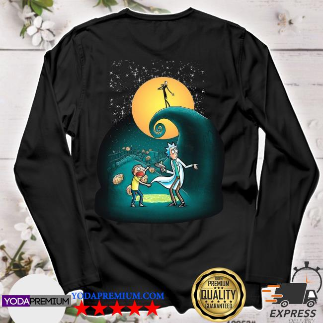 Official Rick and Morty Nightmare Before Christmas s longsleeve