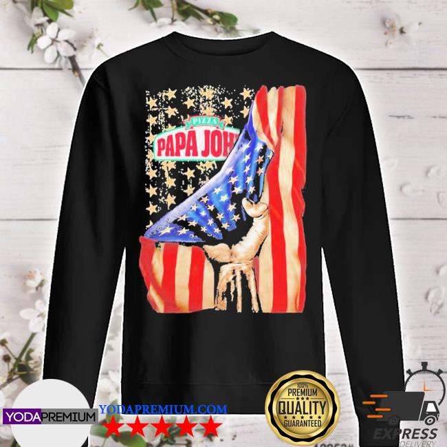 Pizza papa john american flag independence s sweater