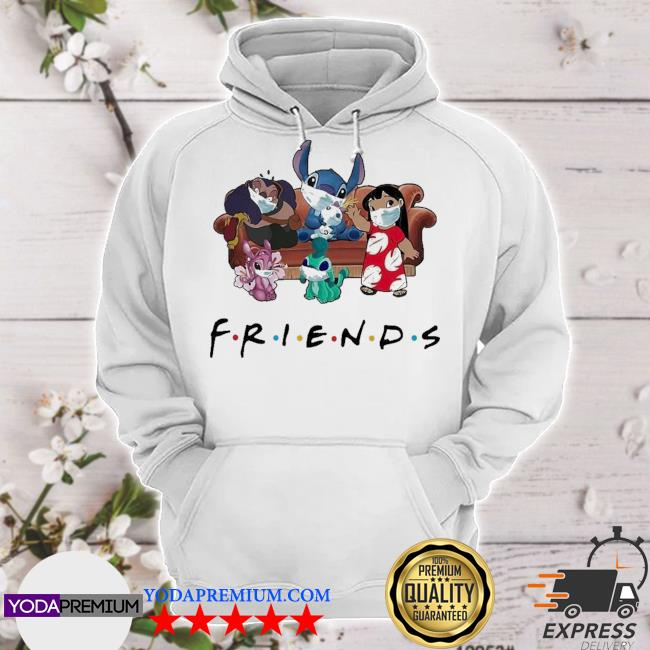 Stitch friends face mask s hoodie