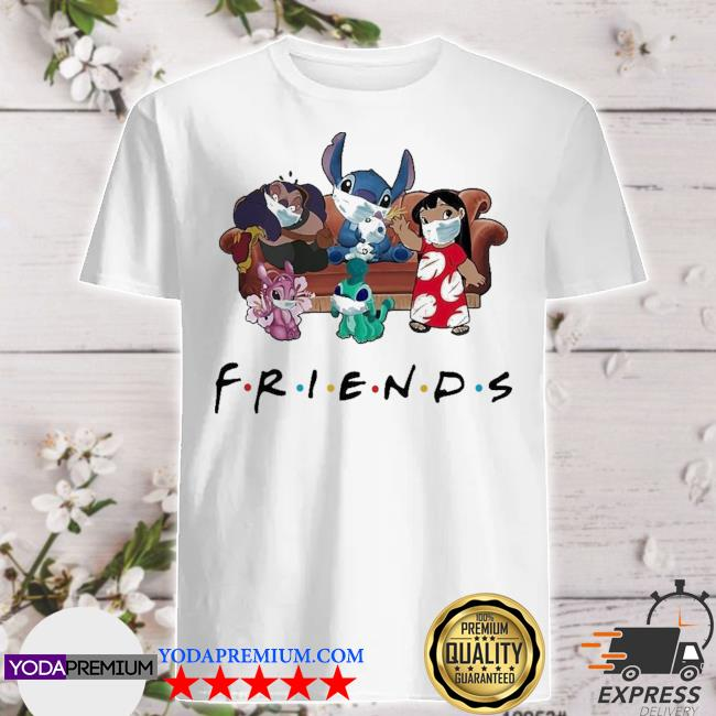 Stitch friends face mask shirt